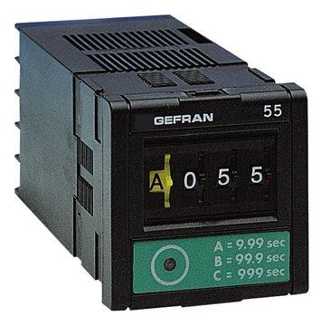 Časovač viac rozsahový s digitálnym nastavovaním Gefran 55