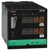 2-kanálový indikátor s údajmi hraničných hodnôt pre teplotu a tlak Gefran 40TB