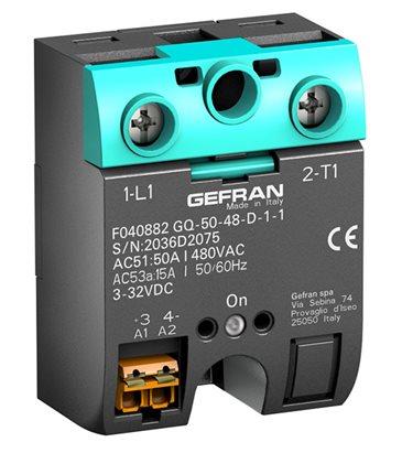 Jednofázové polovodičové relé Gefran GQ s logickým riadením