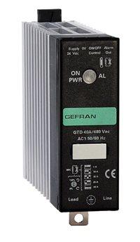 Jednofázové polovodičové relé s chladičom, logickým riadením a diagnostikou Gefran GTD