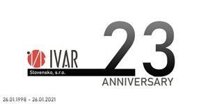 IVAR Slovensko, s.r.o. výročie 23 rokov od vzniku